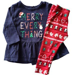 ☘️3/$30☘️ GEORGE 2 PC Christmas Outfit 12-18 mo
